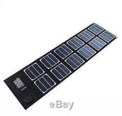 Folding Solar Panel 40W Watt 18V Volt Portable Camping Hiking Travel Cycling USB
