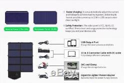 Folding Solar Panel 40W Watt 18V Volt Portable Camping Hiking Travel I Phone USB
