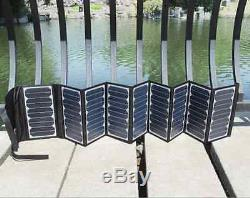 Folding Solar Panel 60W Watt 18V Volt Portable Camping Hiking Caravan Travel USB