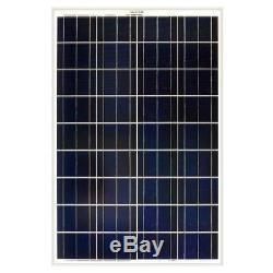Grape Solar 100-Watt Polycrystalline Solar Panel For RVs Boats 12-Volt Systems