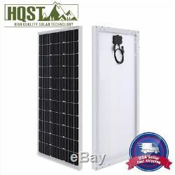 HQST 100W 12V Solar Panel 100 Watt 12 Volt Mono Poly Off Gird Power for RV Home
