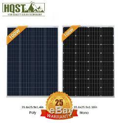 HQST 100W Watt 12V Volt Mono or Poly Solar Panel 100W PV Power RV Home Off Grid
