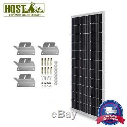 HQST 100W Watt 12V Volt Mono or Poly Solar Panel with Z Brackets Mouting RV Home