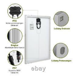 HQST 100W Watt 12 Volt Poly Solar Panel 100W 12V Off Grid PV Power RV Home
