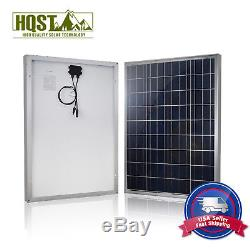 HQST 100 Watt 12 Volt Poly Solar Panel 100W 12V Off Grid Battery Charger RV Home