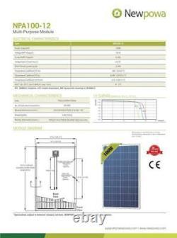 High Performance EVA 100 Watts 12 Volts Polycrystalline Solar Panel