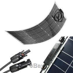 Hovall 100 Watt 12 Volt Monocrystalline Semi-Flexible Solar Panel for RVs, Boats