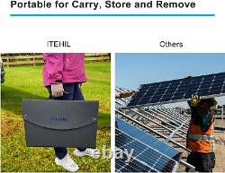 ITEHIL Solar Panel, 100W 18 Volt Monocrystalline Solar Panel Kits, Portable High