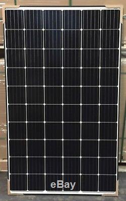 Japan Solar 300 watt Mono Black Frame White Backsheet 24 Volt Solar Panel Module
