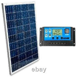 Kmg 100 Watts 12 Volts Polycrystalline Solar Panel + Charge Controller Combo F