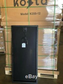 Kosta 200 Watts 12 Volt Battery 200w Charger Solar Panel Off Grid RV Marine