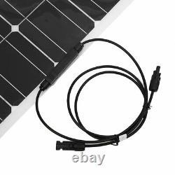 LCD Solar Panel 200 Watts 2pcs 100W Monocrystalline 12 Volt RV Boat Off Grid 24V
