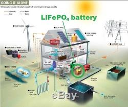 LiFePO4 12V 100Ah Lithium Battery camper solar panels energy storage 12 volt PV