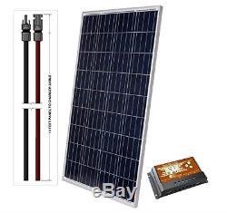 LightCatcher-Solar 100-Watt 12-Volt Polycrystalline Solar Panel Kit Panel+PWM +