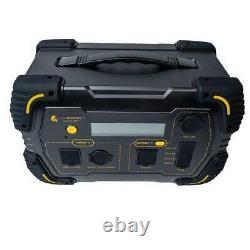 Lion Safari LT Portable Solar Generator with 2 100 Watt 12 Volt Solar Panels