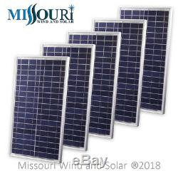 Lot of 5 12 Volt 30 Watt Polycrystalline Solar Panels Photovoltaic Off Grid