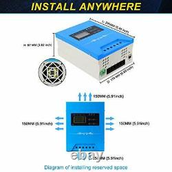 MPPT Solar Charge Controller 60A Max 3000W 145V Input Volt PV Solar Panel Contr