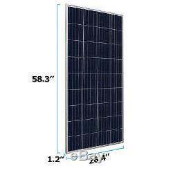 Mighty Max 160 Watt 12 Volt Waterproof Polycrystalline Solar Panel Charger