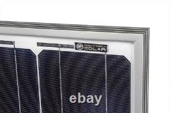 Mighty Max 2 Pack 100 Watt 12 Volt Monocrystalline Off Grid Solar Panel