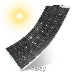 Mono Flexible 100W 18V Solar Panel Volt Off-Grid Battery Charge RV Boat Home US
