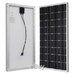 Monocrystalline Solar Panal Expansion Kit 100 Watts 12 Volts Aluminum Frame New
