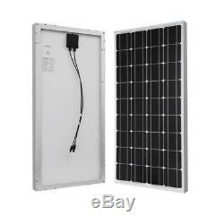 Monocrystalline Solar Starter Kit Off-Grid Solar System Boats 100-Watt 12-Volt