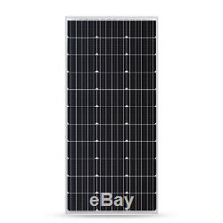 NEW 100W 12V Monocrystalline Solar Panel 100 Watt 12 Volt Mono (COMPACT DESIGN)