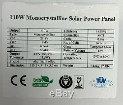 NEW 110 Watt 12 Volt Polycrystalline Solar Panels Aluminum Frames