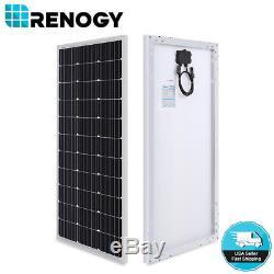 NEW Compact Design Renogy 100 Watt 12 Volt Monocrystalline Solar Panel 100W 12V