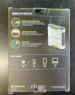 NEW Goal Zero Sherpa 50 Power Pack 12 volt, USB, 19v Laptop Port & AC output