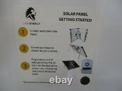 Net Lion Energy 100 Watt 12 Volt Solar Panel Portable Foldable Camping RV Rugged