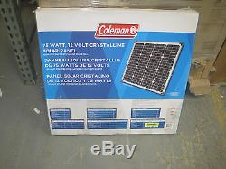 New Coleman 75 Watt 12 Volt Crystalline Solar Panel 75W 12V Free Shipping