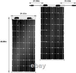 Newpowa 100W 100 Watt Semi-Flex Solar Panel 12 Volt Flexible Extremely ETFE RV