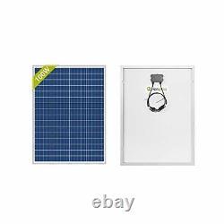 Newpowa 100 Watts 12 Volts Polycrystalline Solar Panel 100W 12V High Efficien