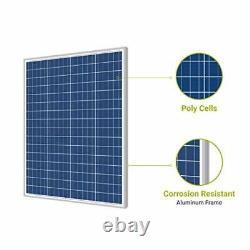 Newpowa 100 Watts 12 Volts Polycrystalline Solar Panel 100W 12V High Efficiency