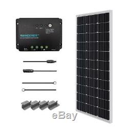 Off-Grid Solar System Solar Starter Kit 100-Watt 12-Volt Portable Power Source