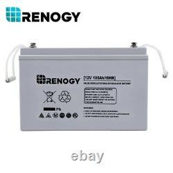 Open Box Renogy 100Ah 12Volt Deep Cycle AGM 100Ah Rechargeable Battery for Solar