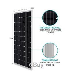 Open Box Renogy 100 Watt 12 Volt Mono Solar Panel Compact Design 100W 12V Power