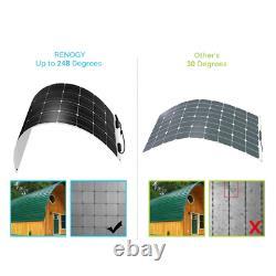 Open Box Renogy 248° Flexible 100W 12V Volt Mono Solar Panel 100W Watt Flexible