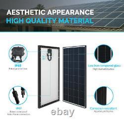 Open Box Renogy Rigid 100W Watt Mono Solar Panel 12V Volt Black Frame Off Grid