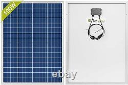 Polycrystalline Solar Panel, 100w, 12v, Battery Rv Grid Volt Boat Off Kit, Charger