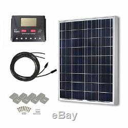 Polycrystalline Solar Panel Kit Panels Energy Power System Kits RV 12 Volt