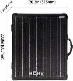 Portable 100W Solar Panel Kit+ Waterproof Charge Controller 12/24V Volt RV Boat