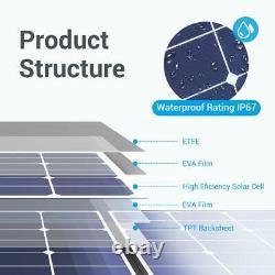PowerOak 120W foldable 24 Volts Monocrystalline Lightweight Solar Panel