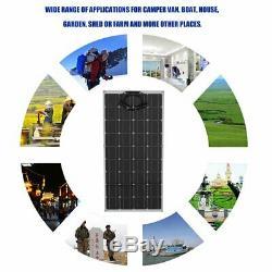 Pro 160 Watt 18 Volt Extremely Flexible Monocrystalline Solar Panel -Ultra Light