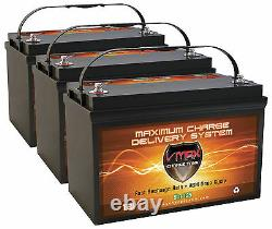 QTY3 VMAX SLR125 12 Volt 125Ah each, 375Ah total AGM Deep Cycle Solar Batteries