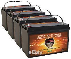 QTY4 VMAX-SLR125 12V 125Ah AGM Solar / Wind Storage Deep Cycle 12 Volt Batteries