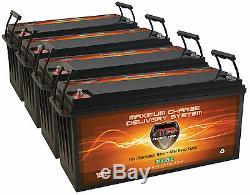 Qty4 SLR200 Solar Power Backup 800AH TOTAL 12V deep cycle AGM 12 volt Battery