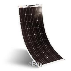 RICH SOLAR 100 Watt 12 Volt Flexible Monocrystalline Lightweight Solar Panel