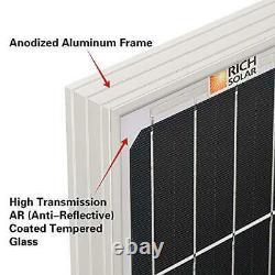 RICH SOLAR 100 Watt 12 Volt Monocrystalline Solar Panel High Efficiency 100W